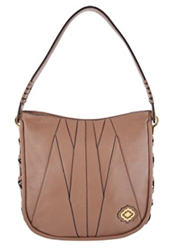 orYANY Pebble Leather & Suede Hobo Handbag, Truffle