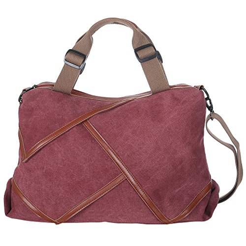 MG Collection Casual Canvas Hobo Satchel Shoulder Tote Handbag