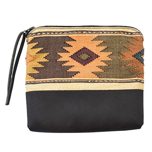 Guatemalan Native Comalapa Clutch Bag Handmade by Hide & Drink :: Sunset