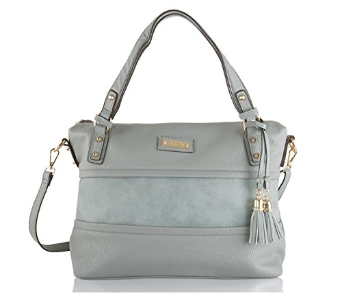 Jessica Simpson Vesey Satchel Bag – Granite Blue