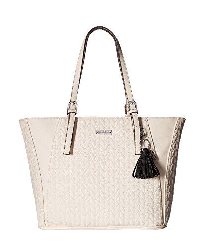 Jessica Simpson Women's Cynthia Tote Éclair/Black Tassel Handbag