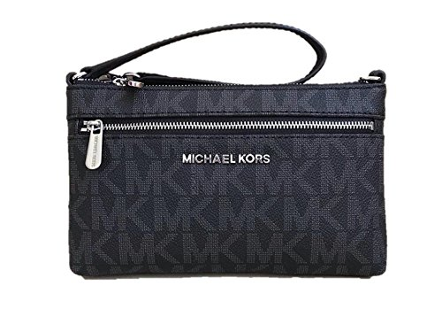 Michael Kors Jet Set Travel Large PVC Wristlet in Black