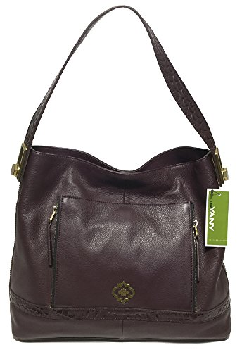 orYANY Michaela Pebble Leather Hobo, Wine
