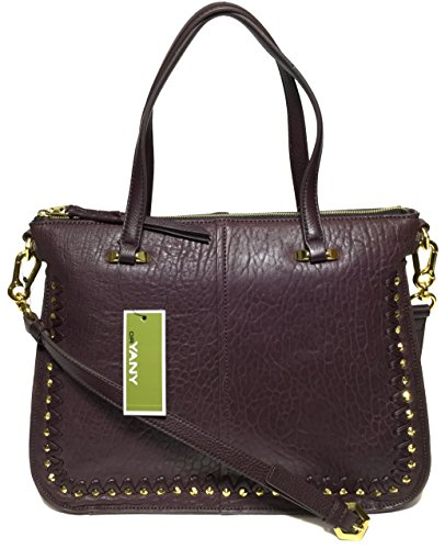 orYANY Woman's Leather/Suede Satchel, Eggplant