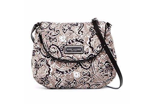 Marc Jacobs Quilted Paisley Gray Multi Nylon Crossbody Shoulder Bag