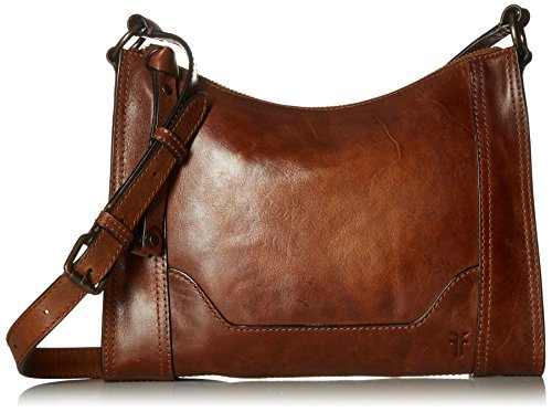 FRYE Melissa Zip Leather Crossbody Bag, Cognac