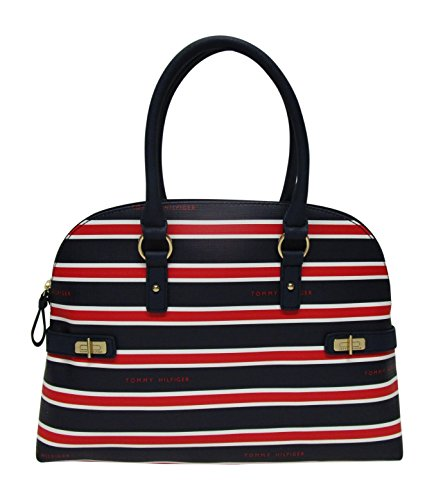 Tommy Hilfiger Hayden Stripe Domed Satchel