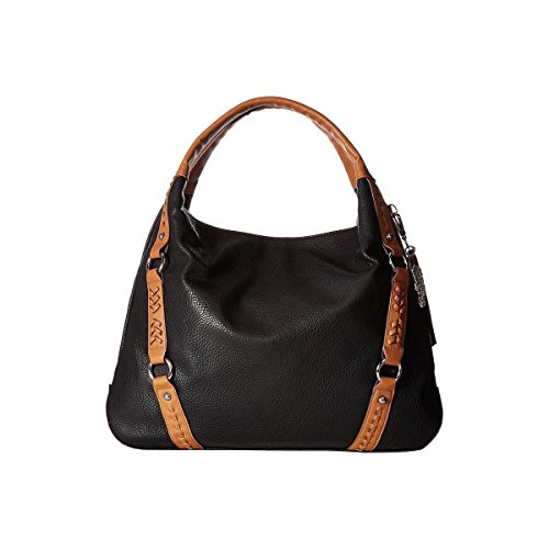 Jessica Simpson Women's Shana Tote Black/Cognac Handbag