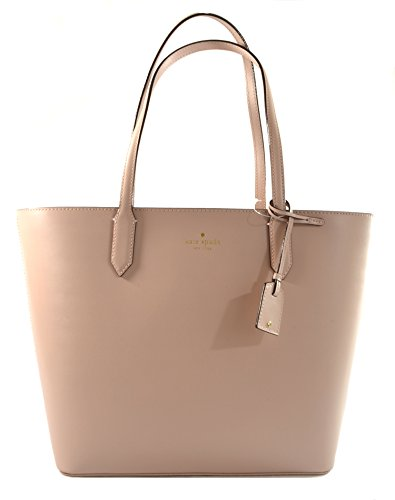Kate Spade Lucia Bell Street Leather Tote Shoulder Bag Purse Handbag, Rose Cloud