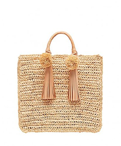Loeffler Randall Women's Raffia Straw Travel Tote in Natural