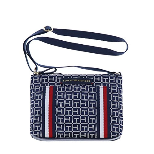 Tommy Hilfiger Womens 2 Zipper Crossbody Purse