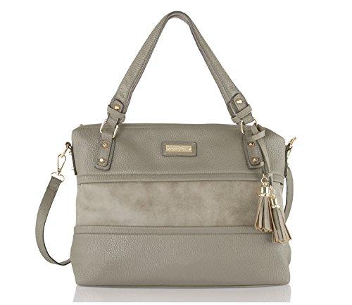 Jessica Simpson Vesey Satchel Bag – Slate