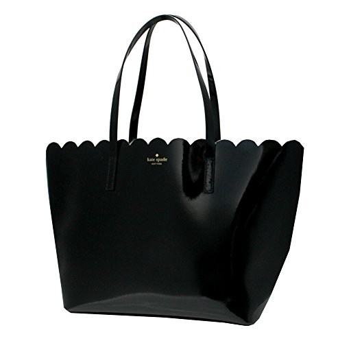 Kate Spade Lily Avenue Patent Carrigan Scallop Large Tote Black