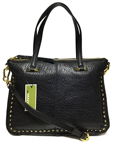 orYANY Woman's Leather/Suede Satchel, Black