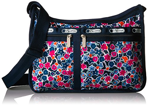 LeSportsac Classic Deluxe Everyday Bag, Delightful Navy