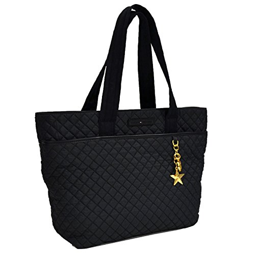 Tommy Hilfiger Nylon Quilted Tote Purse