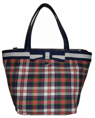 Tommy Hilfiger Women's Tote Handbag, Large Plaid