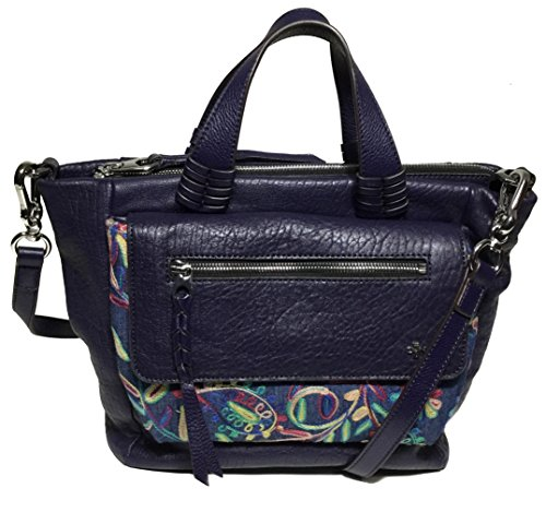 orYANY Woman's Leather Satchel, Purple Multi