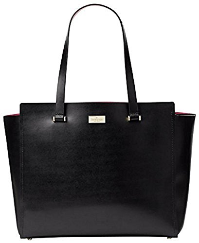 Kate Spade Arbour Hil Kellen Black/Sweetheart Pink Leather Tote