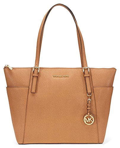 Michael Kors Large Jet Set Saffiano Leather Tote – Acorn