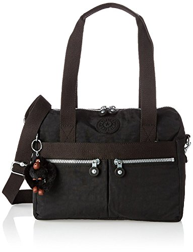 Kipling Klara Satchel Cross Body, Black,