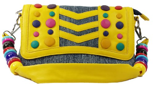 k13504 Mylux Women/Gril Close-out Clutch Bag (yellow)