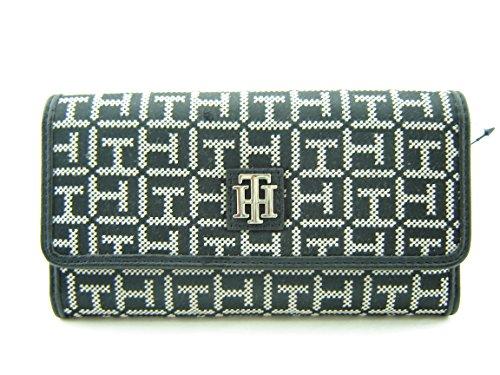 Tommy Hilfiger Logo Womens Wallet Clutch Bag – Black / White