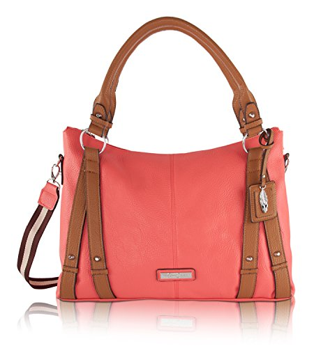 Jessica Simpson Greer Crossbody Tote Bag – Coral