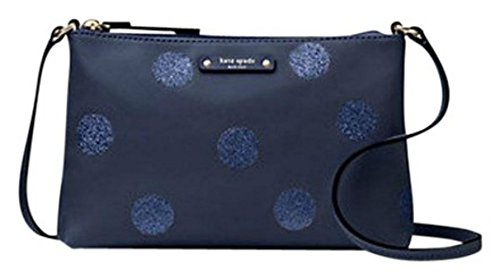 KATE SPADE Ramey Haven Lane French Navy Glitter Dot CrossBody Bag WKRU4122