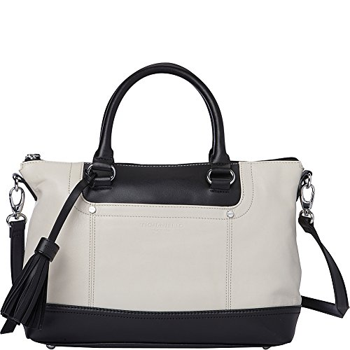 Tignanello Smooth Operator Convertible Satchel (Eggshell/Black)