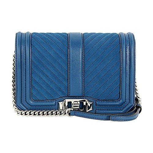 Rebecca Minkoff Chevron Ladies Small Leather Crossbody Handbag HSP7ELUX45
