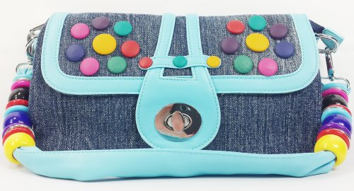 k13505 Mylux Women/Gril Close-out CANDY Denim Clutch Bag (blue)