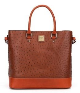 Dooney & Bourke Chelsea Ostrich Emb Leather Shopper Tote