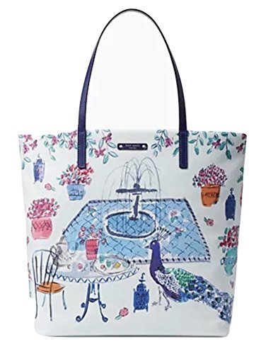 Kate Spade Peacock Full Plume Bon Shopper Multi Tote Bag