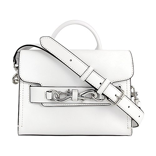 Rebecca Minkoff Florence Ladies Small Leather Optic White Crossbody Handbag HSP7EFOS58