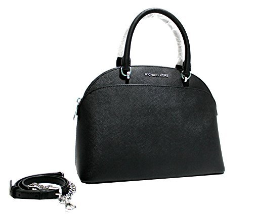 MICHAEL Michael Kors EMMY Women's Shoulder Handbag LARGE DOME SATCHEL (Black)