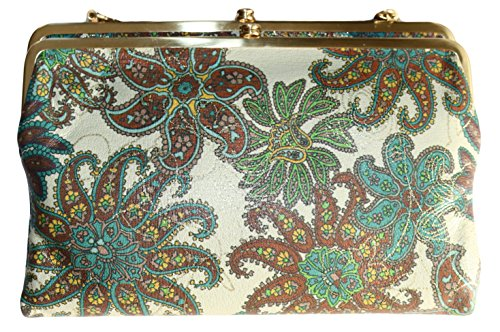 Hobo Leanne Gypsy Paisley Floral Leather Crossbody Clutch