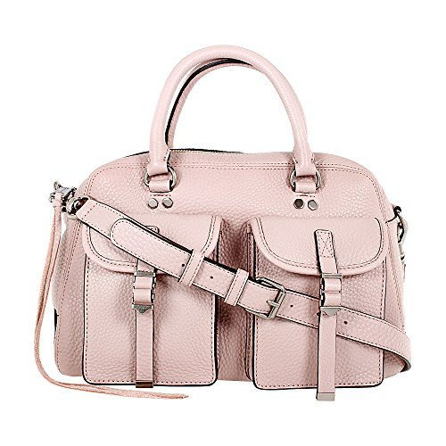 Rebecca Minkoff Military Leather Pocket Satchel, Pink