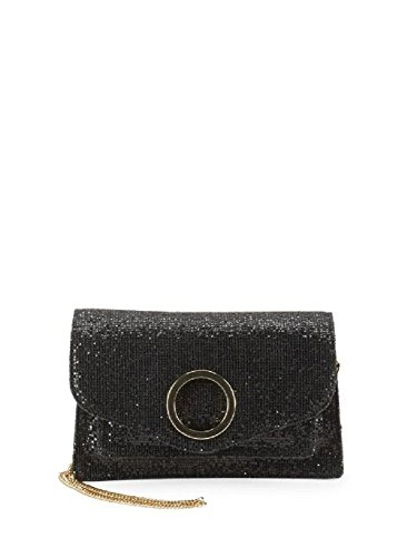 halston heritage leather blend cross body bag