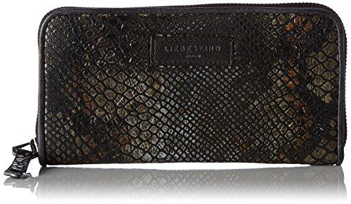 Liebeskind Berlin Annuh7 Snake, Women's Wallet, Schwarz (Oil Black), 2x10x20 cm (wxhxd)