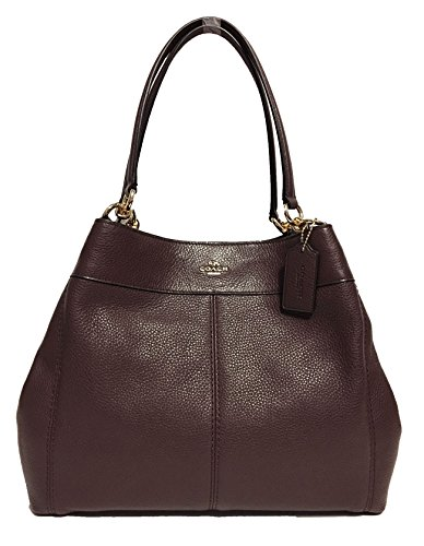 Coach F57545 Lexy Pebble Leather Shoulder Bag (Oxblood)