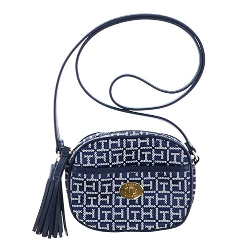 Tommy Hilfiger Crossbody Purse With Tassel – Navy Blue
