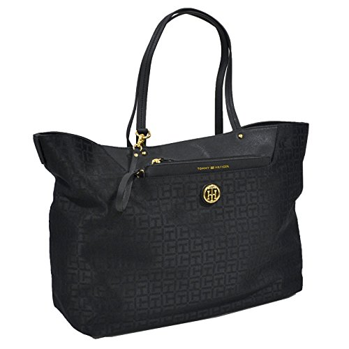 Tommy Hilfiger Jacquard Tote Purse With Removable Pouch