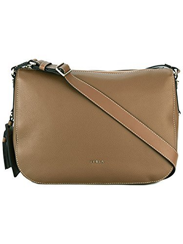Furla Noce Brown Leather Emma Hobo Shoulder Crossbody Messenger Bag
