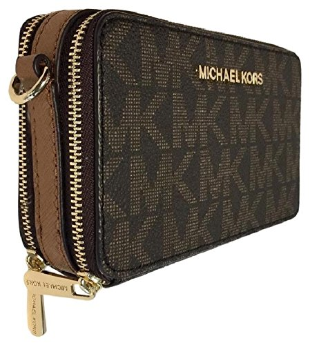Michael Kors JET SET TRAVEL Crossbody Phone Bag Handbag Wallet, Brown/Acorn