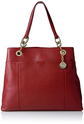Tommy Hilfiger Tote Bag for Women TH Signature, Tommy Red-Patent