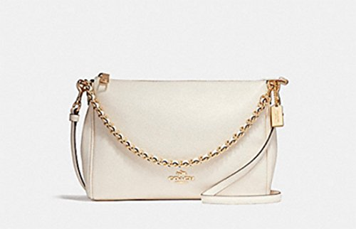 Coach F22212 Carrie Crossbody Bag Pebble Leather Chalk