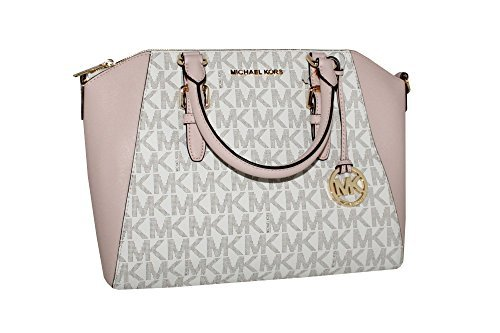 MICHAEL Michael Kors Women's Ciara Large Top Zip Handbag Leather Satchel