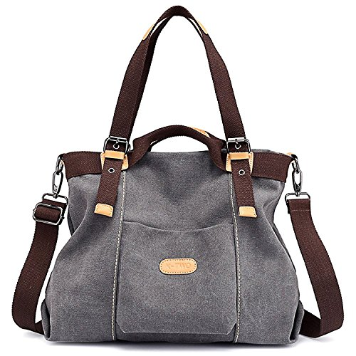 Canvas Handbag, JuguHoovi Casual Hobo Purse Tote Bag Top Handle Handbags Crossbody Bags for Women