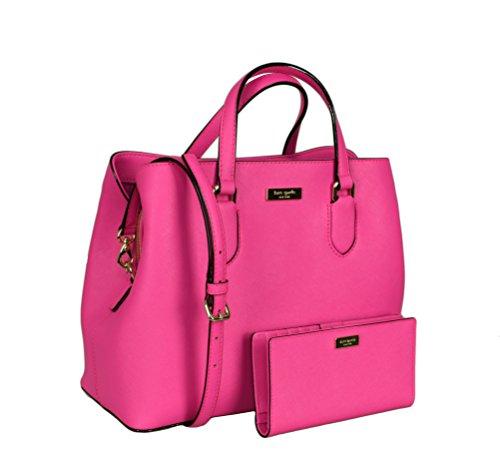 Kate Spade New York Women's Evangelie Laurel Way Shoulder Leather Bag Satchel bundled with Stacy Laurel Way Wallet